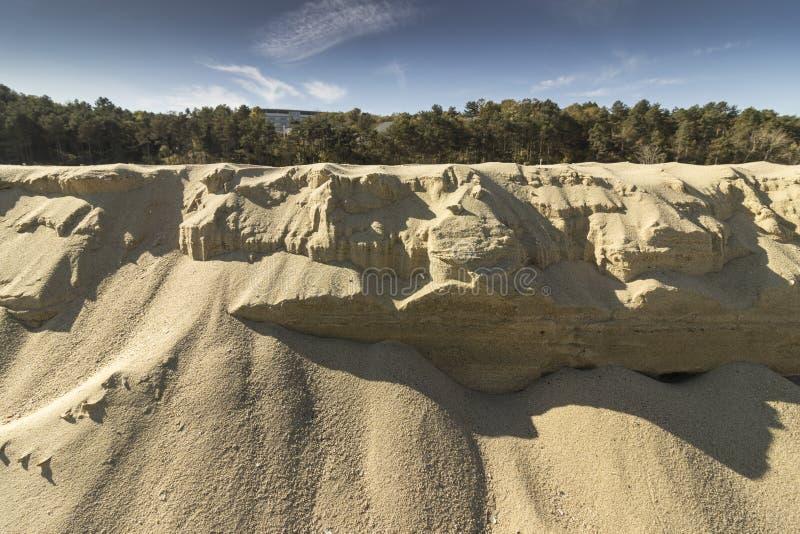 Formations de sable de la mer photos stock