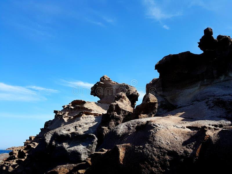 Formations naturelles de falaise de pierre de roche photo stock