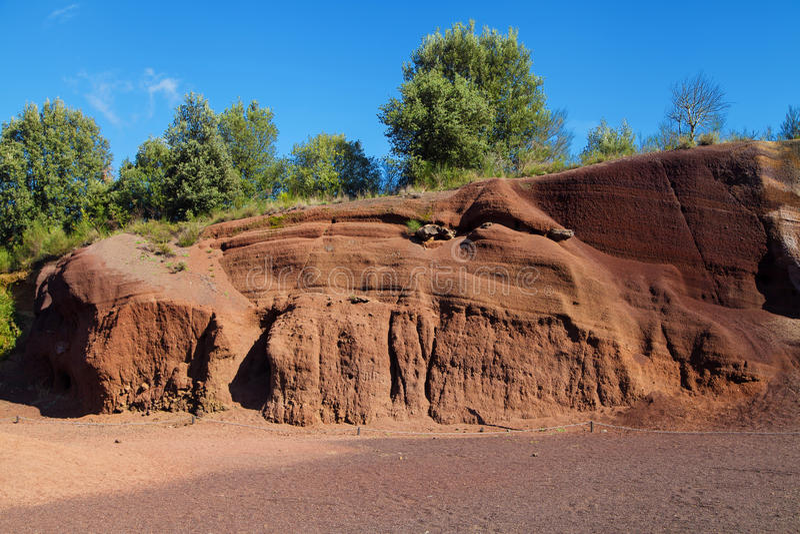 Formations volcaniques du Croscat photos stock
