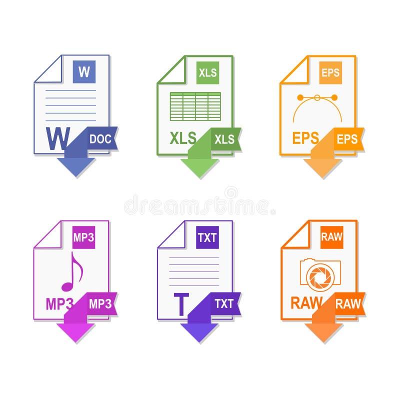 Formato de arquivo Ajuste o ícone ilustração do vetor