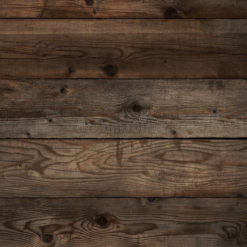 Formato de madera del cuadrado del fondo del grano del entarimado oscuro viejo fotografía de archivo