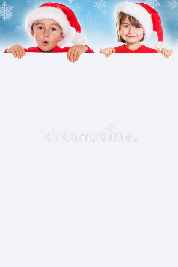 Formato de retrato de Santa Claus de la tarjeta de los niños de los niños de la Navidad b vacío fotografía de archivo