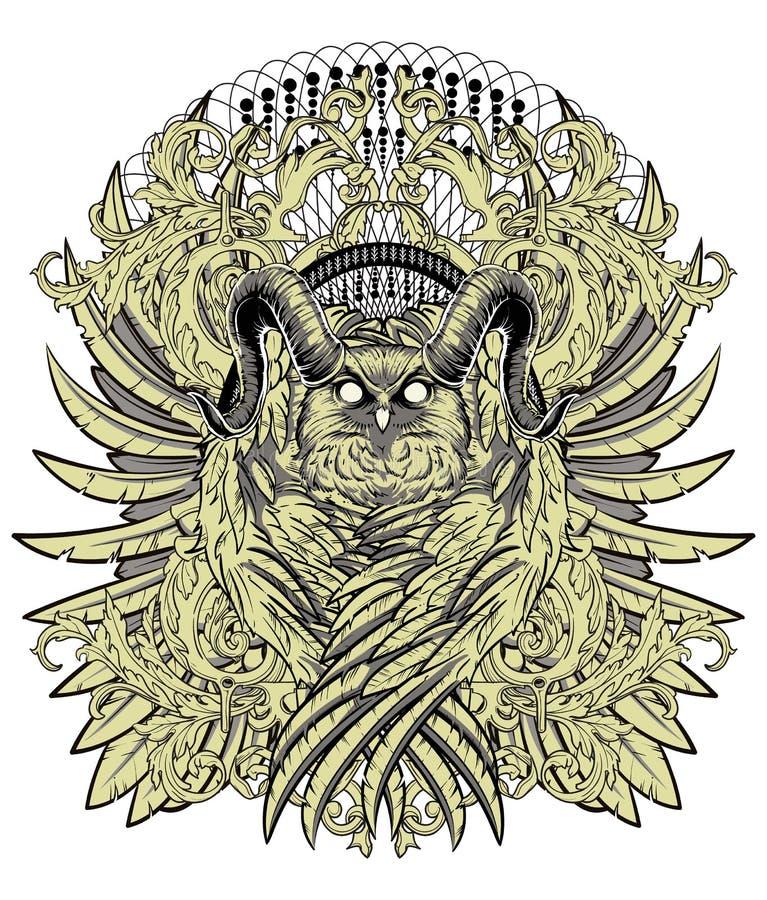 Territorio de los búhos ilustración del vector