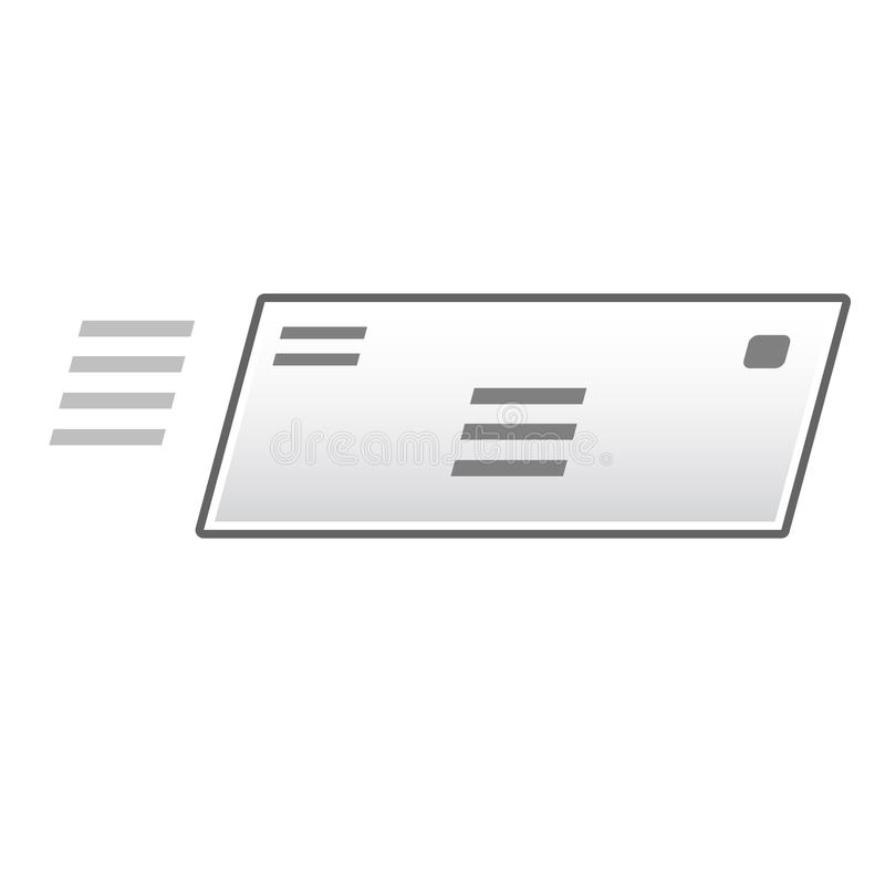 Formato del vector del icono del sobre fotos de archivo libres de regalías