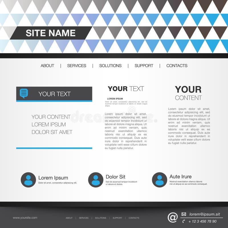 Formato editável do vetor do molde do Web site ilustração do vetor