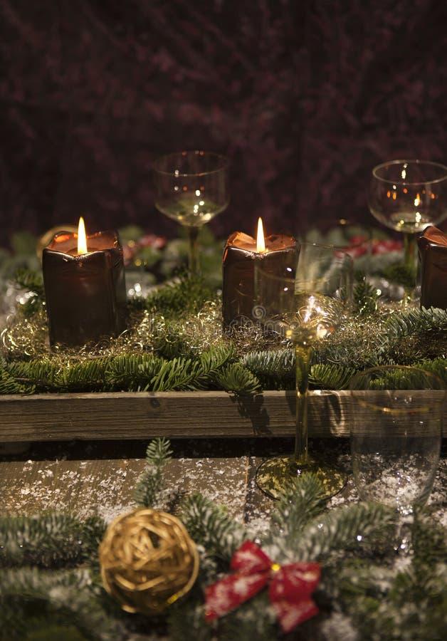 Formato verticale della regolazione di posto di Natale immagine stock libera da diritti