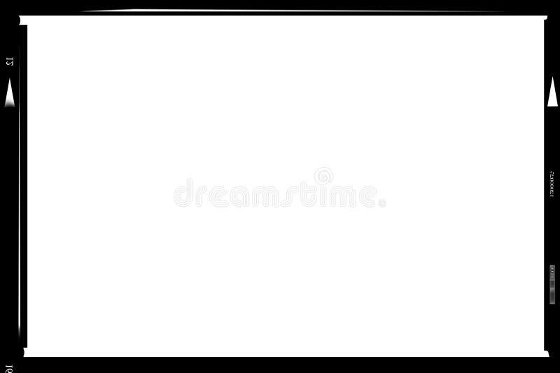 formatrammedelnegativ bild vektor illustrationer