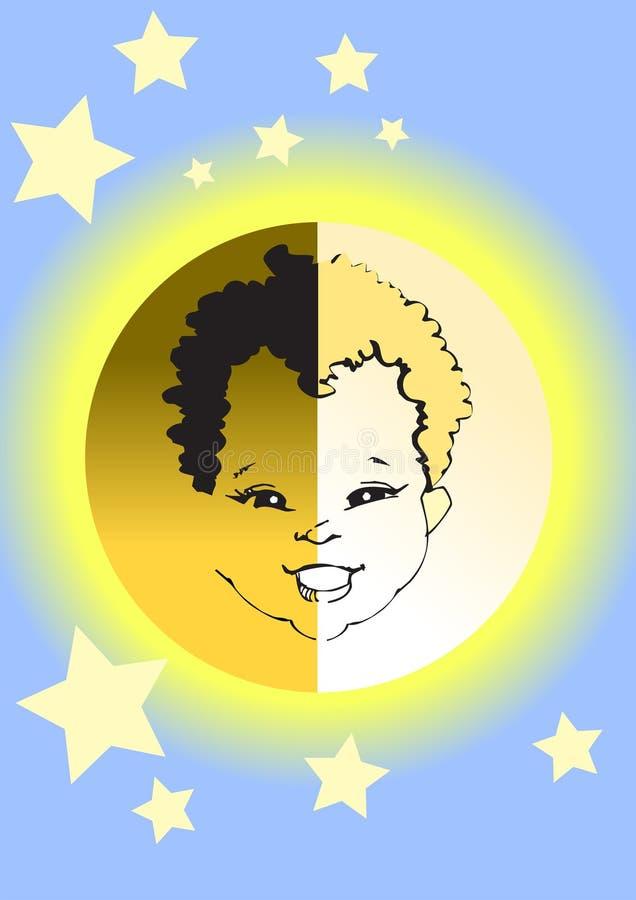 Formazione dei bambini - diversità illustrazione vettoriale