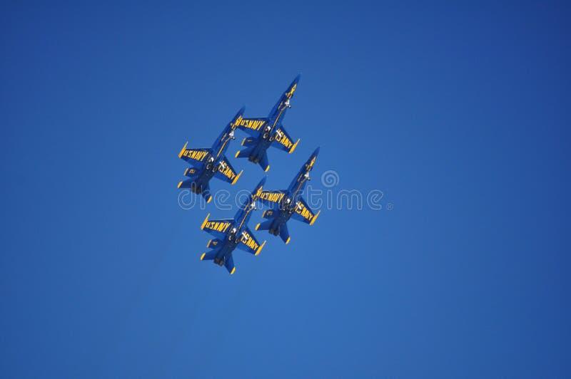 Formazione di diamante di angeli blu immagini stock libere da diritti
