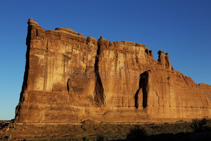 Formazione rocciosa, arché parco nazionale, Utah fotografia stock libera da diritti