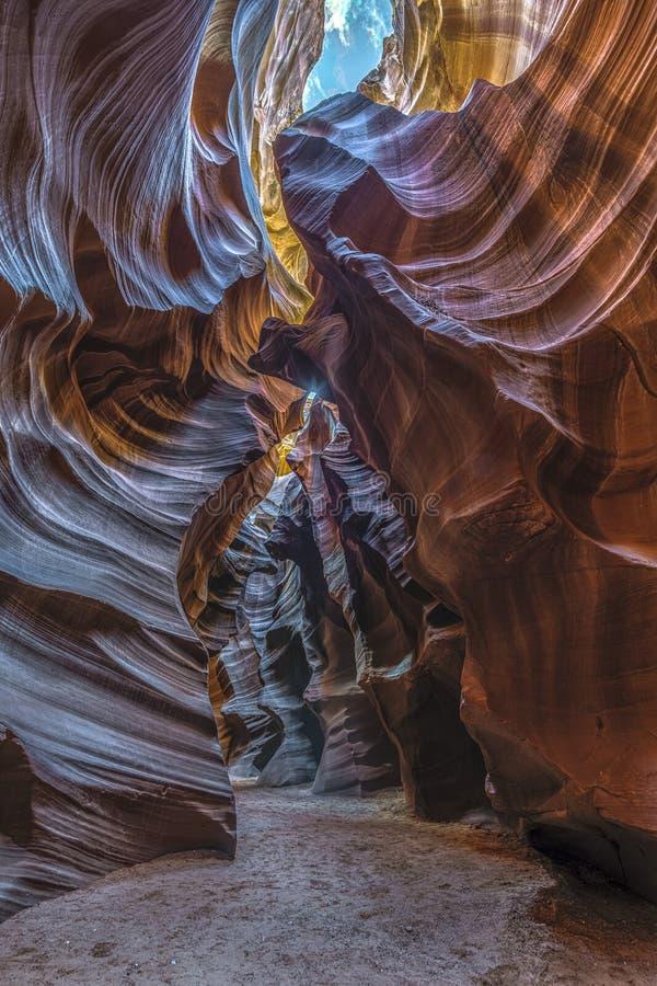 Formazione rocciosa in canyon dell'antilope in pagina, Arizona, U.S.A. fotografie stock