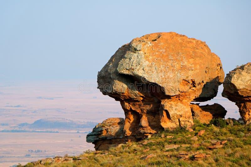 Formazione rocciosa dell'arenaria - Sudafrica fotografia stock