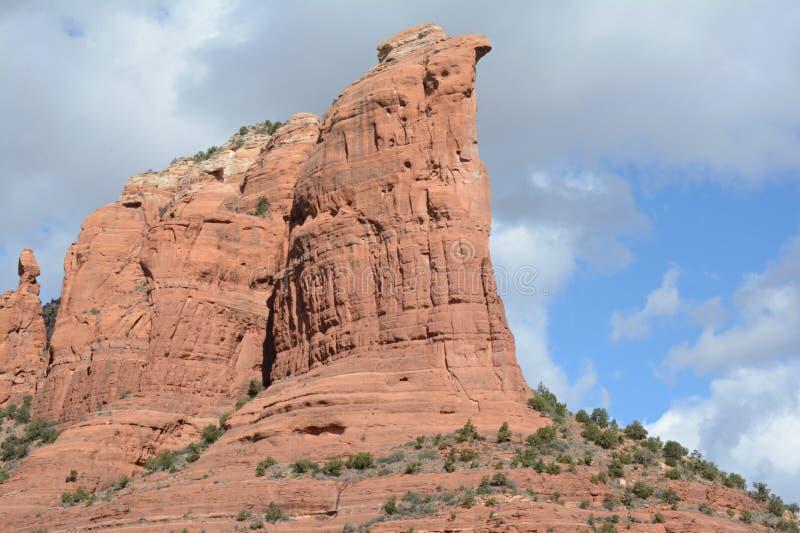 Formazione rocciosa della caffettiera - Sedona ad ovest, Arizona immagine stock libera da diritti