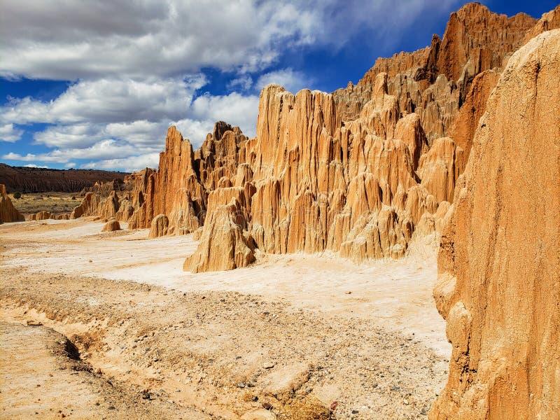 Formazioni dell'argilla del parco di stato della gola della cattedrale, Panaca, Nevada fotografie stock libere da diritti