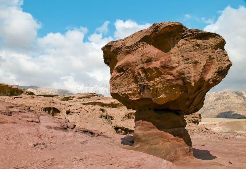 Formazioni geologiche nella sosta di Timna, Israele fotografie stock