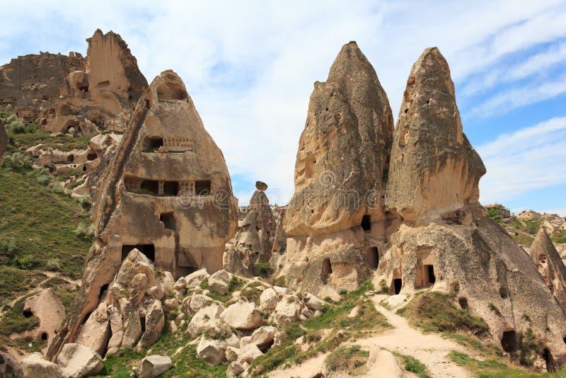 Formazioni geologiche uniche, Cappadocia fotografie stock