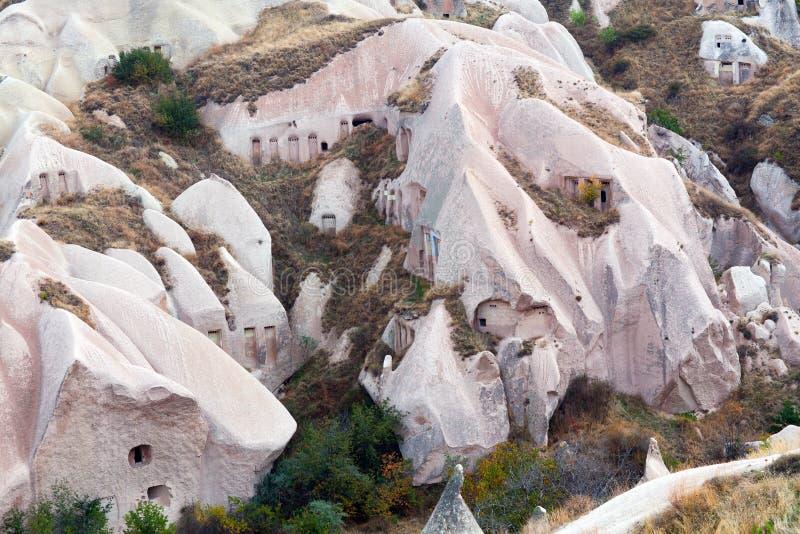 Formazioni geologiche uniche in Cappadocia, l'Anatolia centrale, Tu fotografia stock