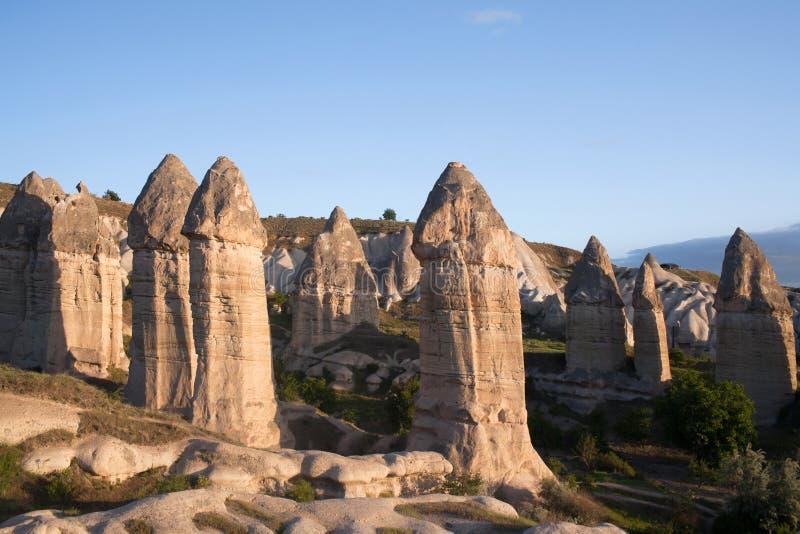 Formazioni geologiche uniche in Cappadocia, Turchia immagini stock libere da diritti