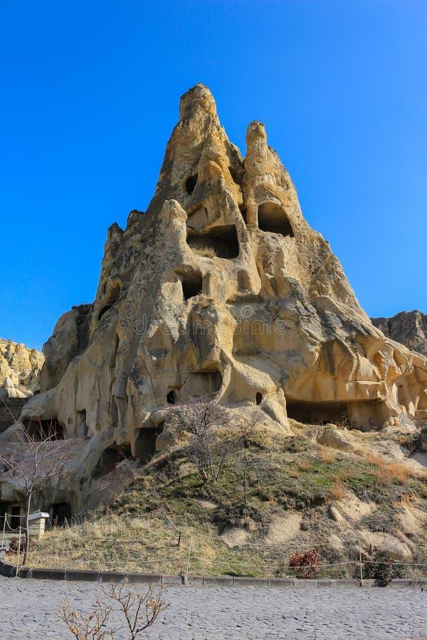 Formazioni rocciose a Cappadocia, l'Anatolia, Turchia fotografia stock