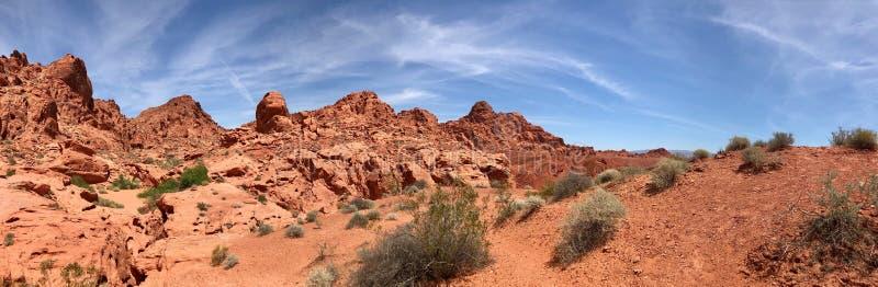 Formazioni rocciose del deserto, valle del parco di stato del fuoco, Nevada, U.S.A. fotografia stock libera da diritti