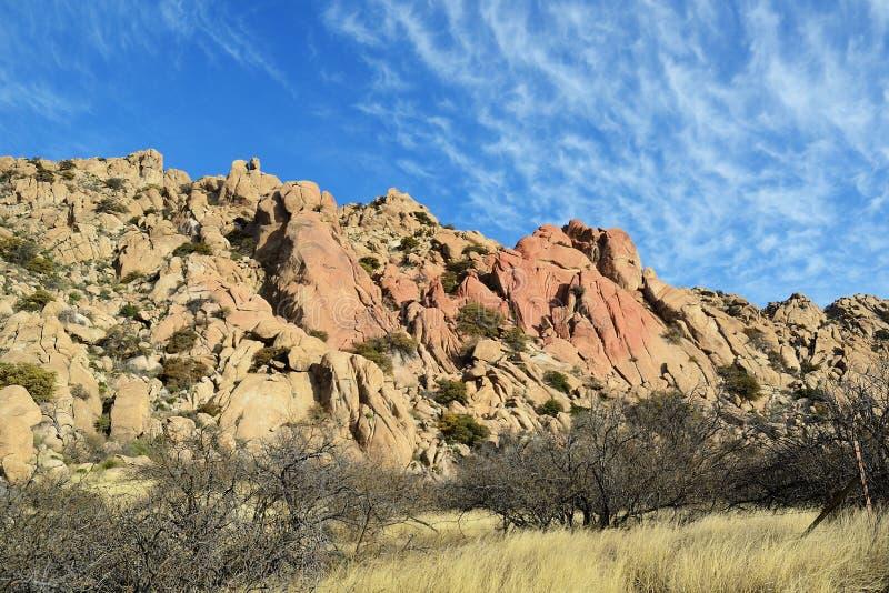 Formazioni rocciose del granito in Arizona immagine stock