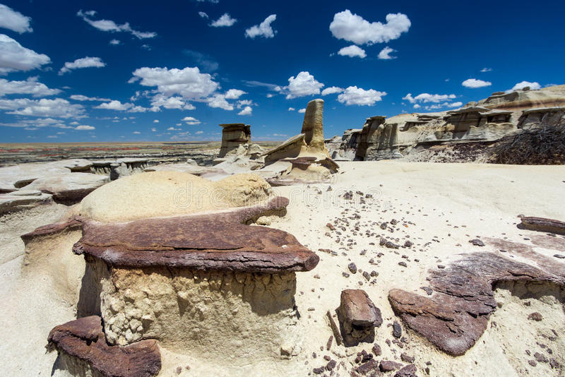 Formazioni rocciose del menagramo nel New Mexico immagine stock libera da diritti