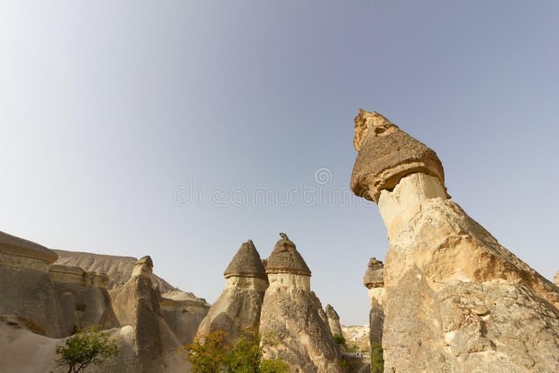 Formazioni rocciose di Cappadocia Turchia del museo dell'aria aperta di Goreme dei luoghi pubblici immagini stock