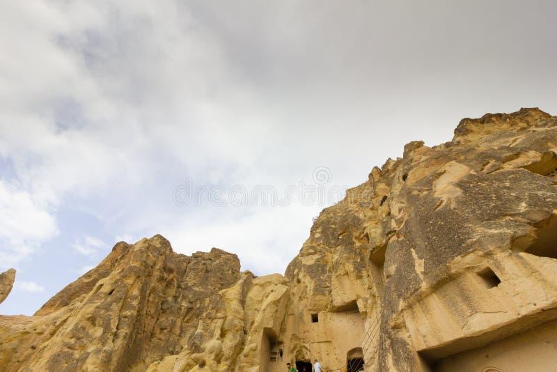Formazioni rocciose di Cappadocia Turchia del museo dell'aria aperta di Goreme dei luoghi pubblici fotografie stock