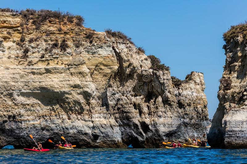 Formazioni rocciose di Ponta Da Piedade fotografia stock