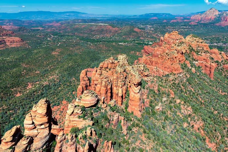 Formazioni rocciose rosse a Sedona, Arizona fotografie stock libere da diritti