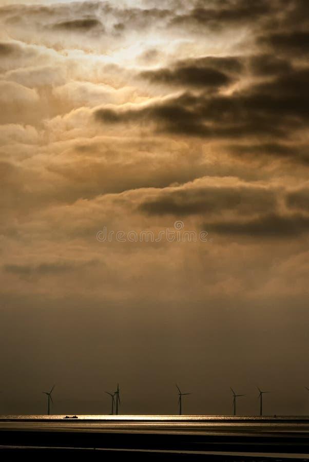 Formby and Heavens Coastal Spotlight of The Ionic Star Shipwreck stock photo
