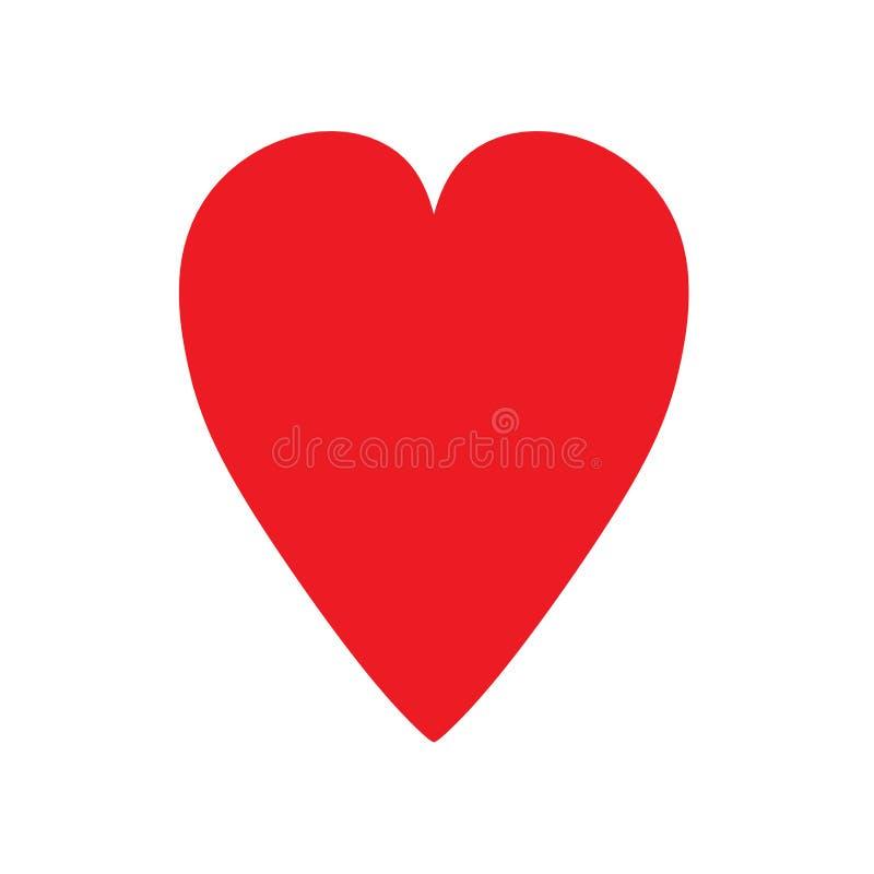 Formdekorationsliebes-Vektorikone des Herzens rote Nettes süßes flaches Element stock abbildung