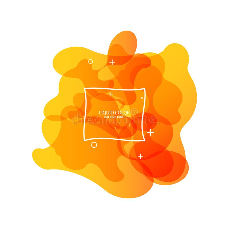 Forme abstraite de fluide Conception liquide Fond dynamique liquide pour les sites Web, la page de d?barquement ou la pr?sentatio illustration stock