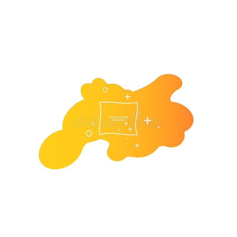 Forme abstraite de fluide Conception liquide Fond dynamique liquide pour les sites Web, la page de d?barquement ou la pr?sentatio illustration de vecteur