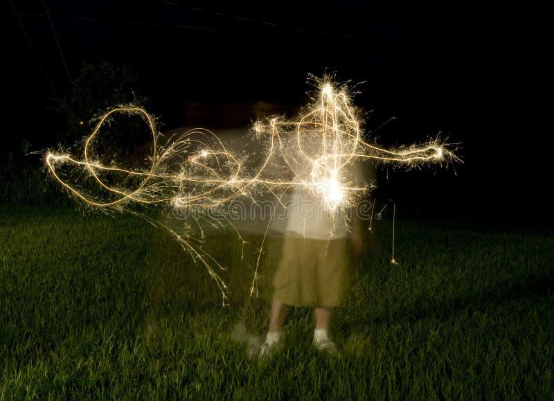 Forme abstraite des Sparklers photographie stock libre de droits