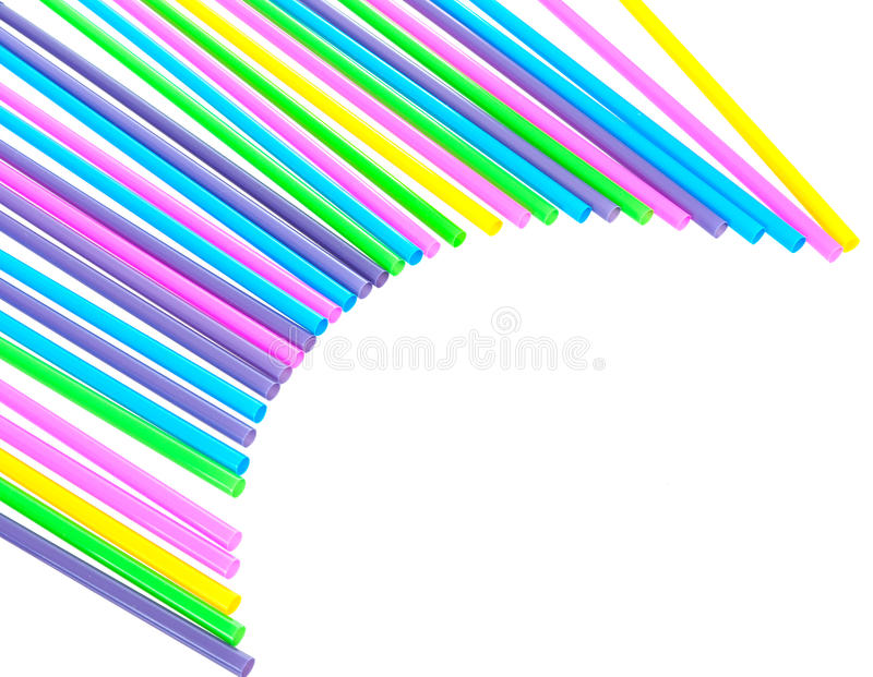 Forme abstraite en plastique de fond de pailles à boire photographie stock libre de droits