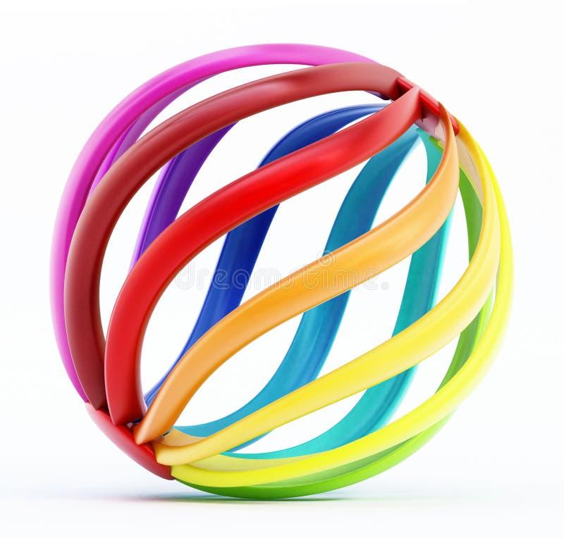 Forme abstraite multicolore de globe illustration de vecteur
