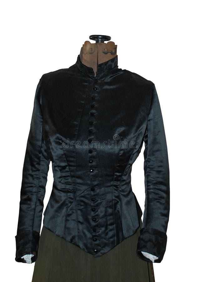 Forme antique de robe avec le dessus de Corseted de vintage image stock