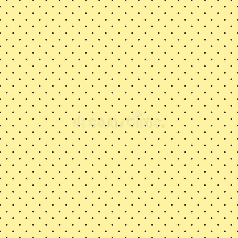 Forme astratte senza cuciture del pois su fondo giallo per tessuto, la carta da parati, le tovaglie, le stampe e le progettazioni illustrazione vettoriale