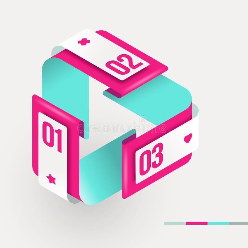 Forme avec des éléments d'infographics illustration de vecteur