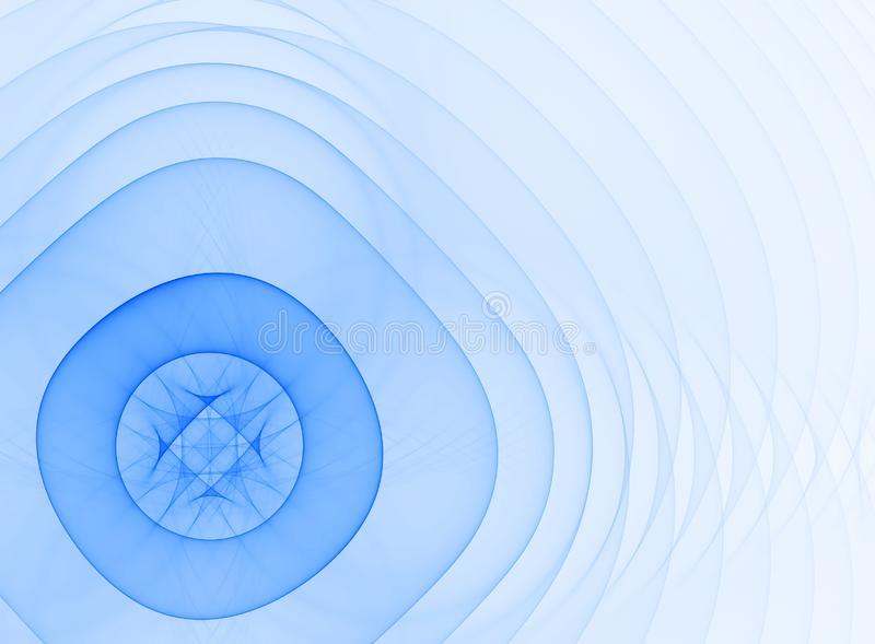 Forme bleu-clair transparente abstraite illustration stock