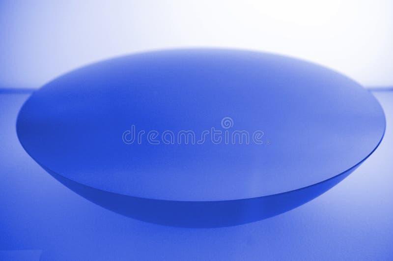 Forme bleue illustrée de cuvette photo stock