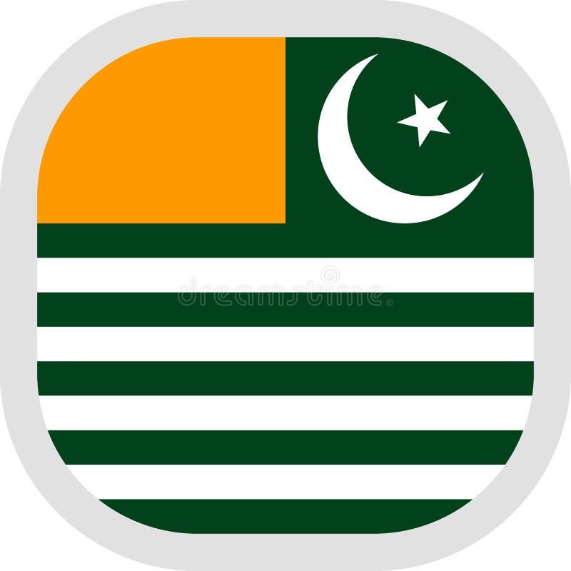 Forme carrée d'icône avec le drapeau illustration stock