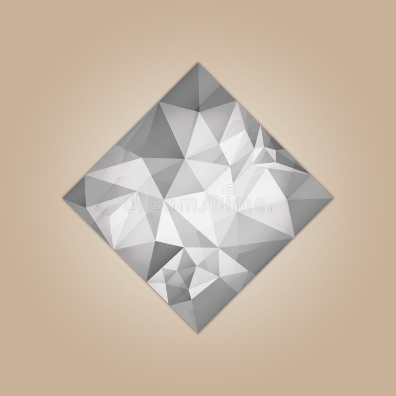 Forme carrée de diamant illustration de vecteur