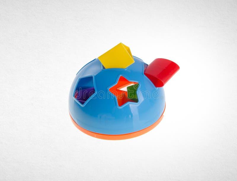 Forme clasificador de la forma del juguete del clasificador o de Childs en un fondo fotos de archivo libres de regalías