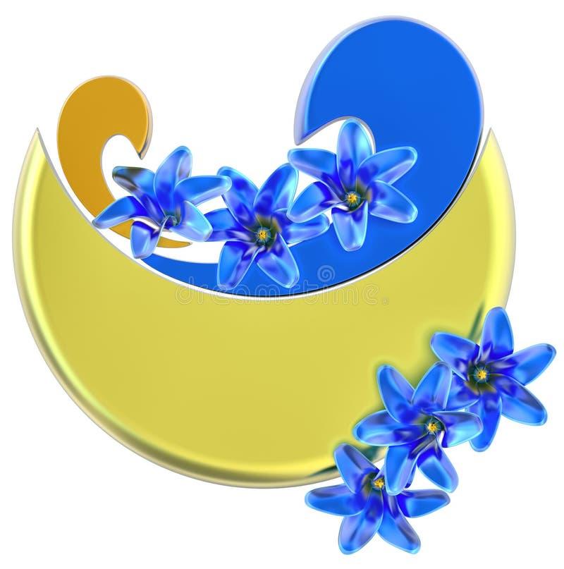 Forme com flores ilustração stock