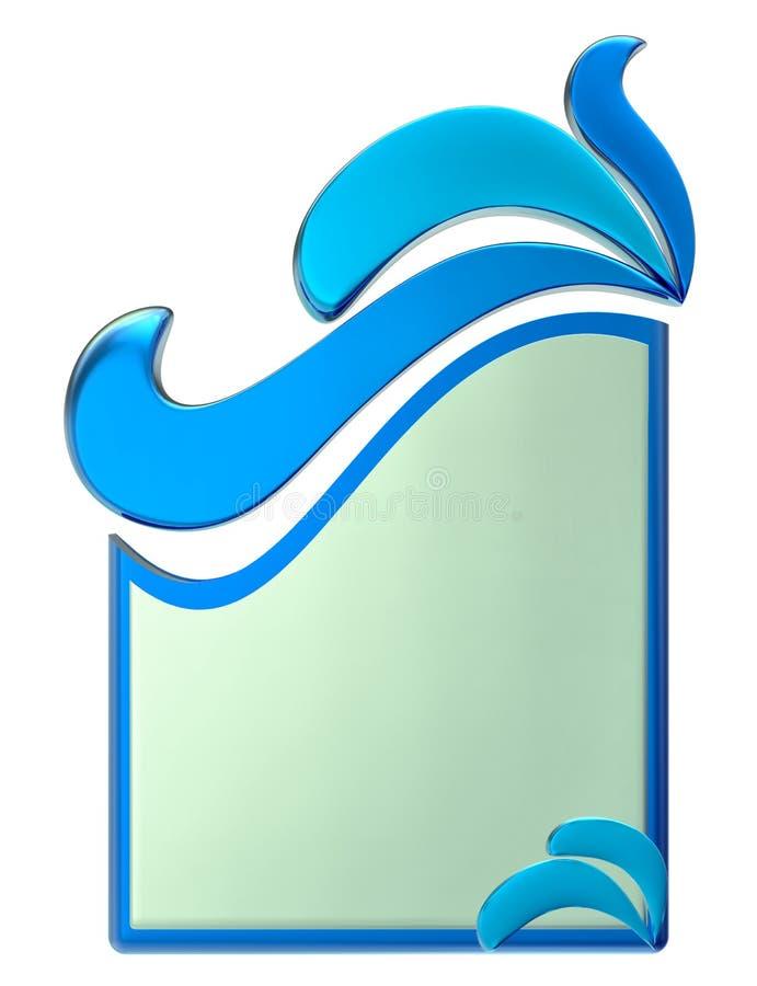 Forme com gotas da água ilustração royalty free