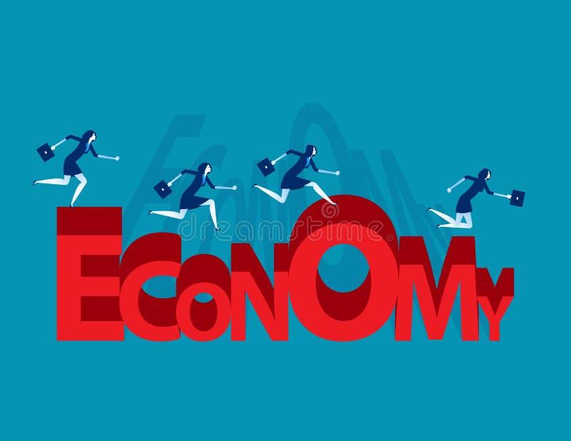 Forme courante d'économie d'équipe d'affaires Illustration de vecteur d'affaires de concept illustration stock