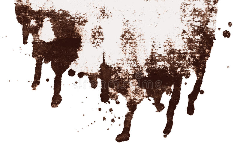 Forme d'égoutture d'abrégé sur encre de sépia de Brown d'isolement illustration de vecteur