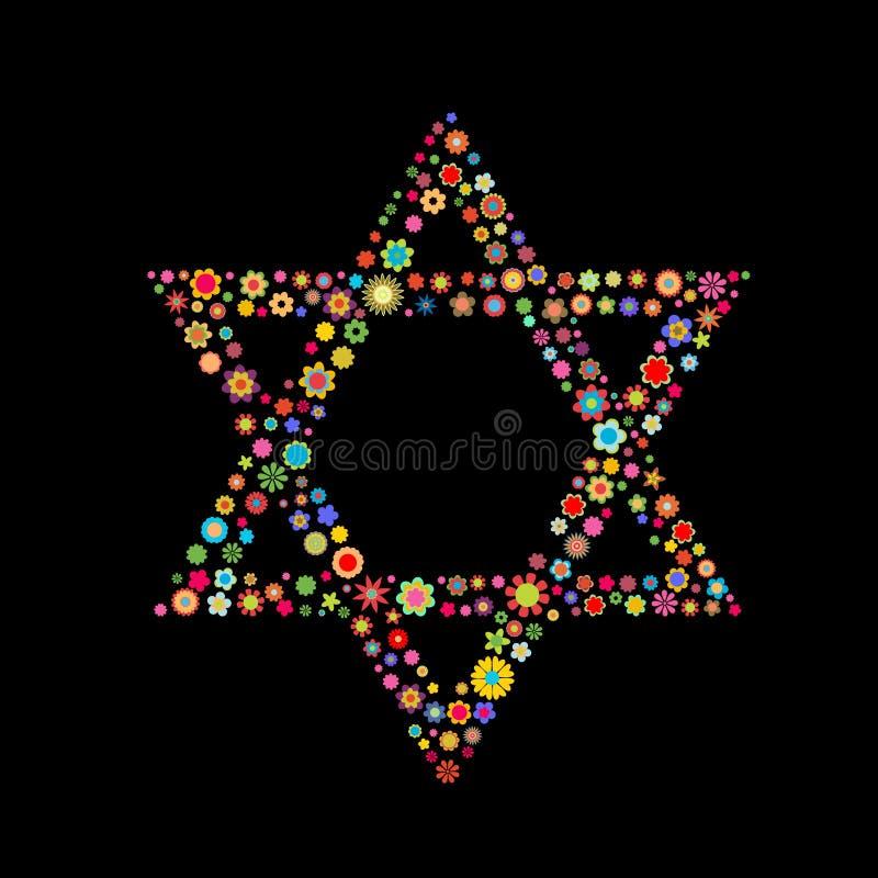 Forme d'étoile de David illustration stock